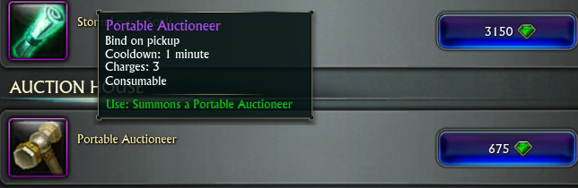 portable auctioneer
