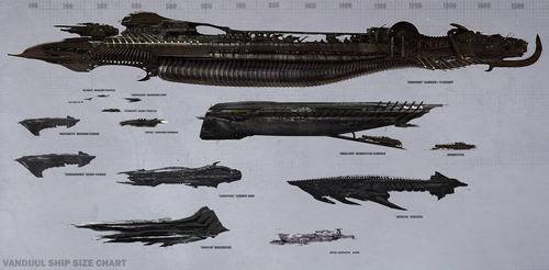 WIP - Vanduul ship size comparison poster