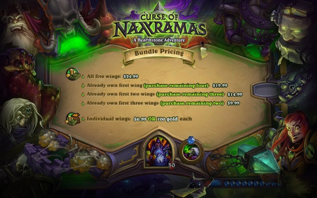 Hearthstone Naxx Pricing