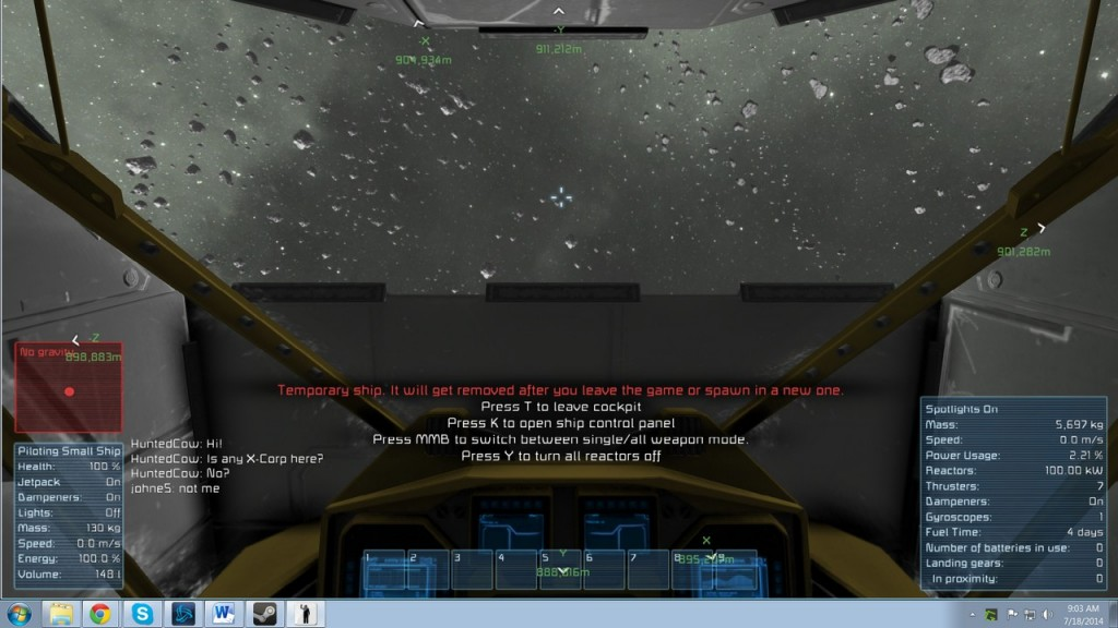 Space Engineers Temp Job