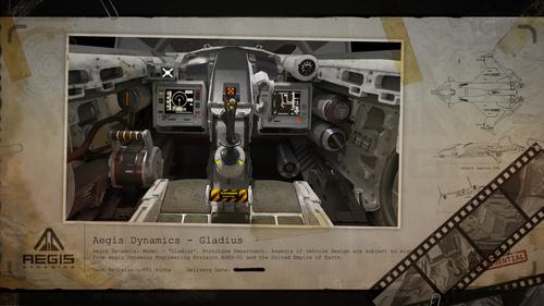 Classified UEE Blueprint: Gladius Cockpit