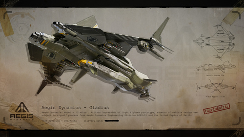 Classified UEE Blueprint: Gladius Rear