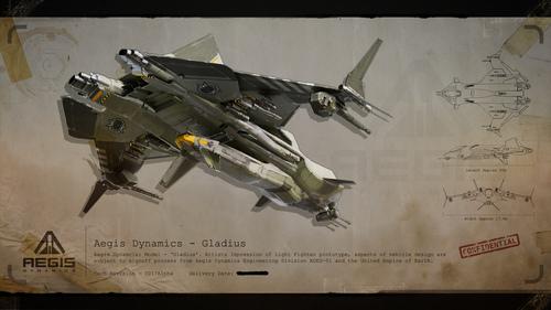 Classified UEE Blueprint: Gladius Rear