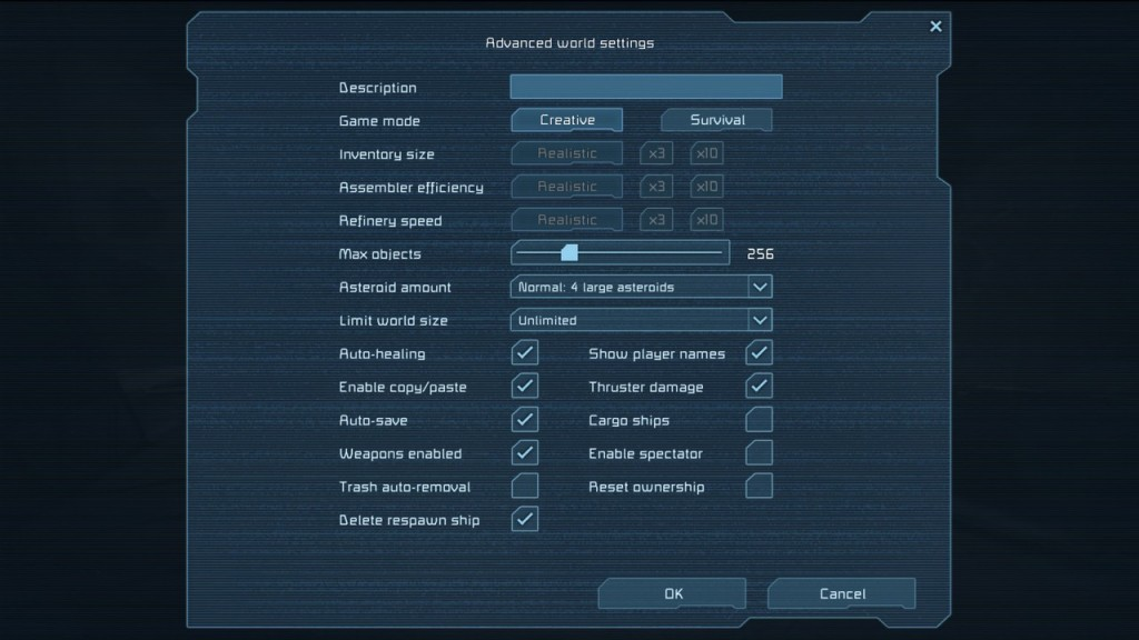 Space Engineers Das Settings